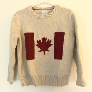 Gap off white Canada flag sweater. Size 4-5
